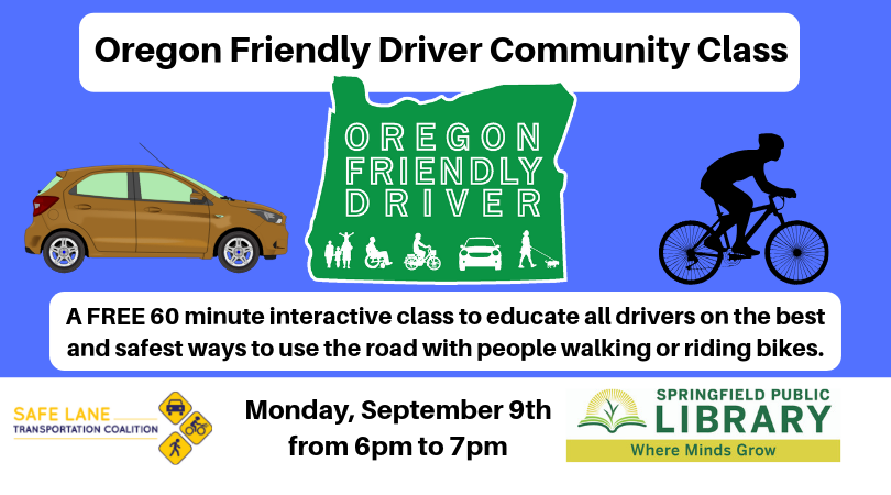 Oregon Friendly Driver Community Class at the Springfield